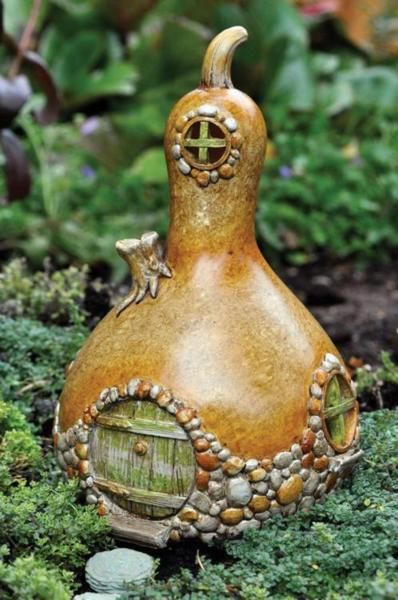 gourd fairy house! (no tutorial--just inspiration)