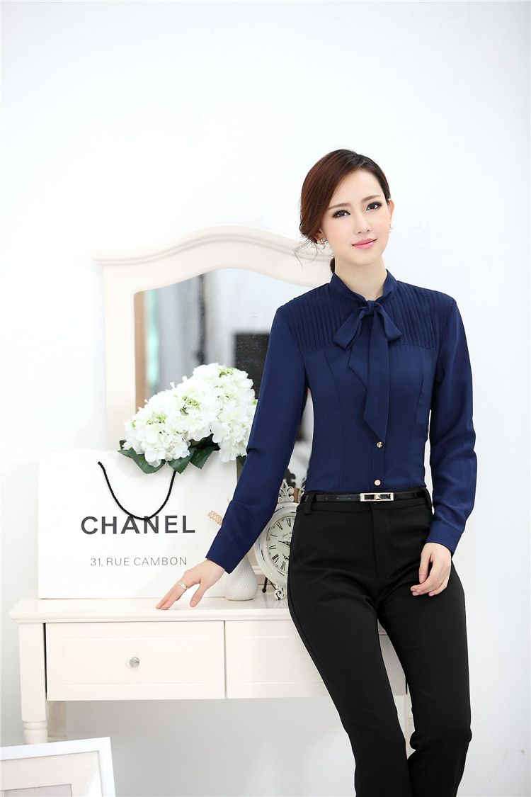e969851470fbd Aliexpress.com  Comprar Otoño de la mujer de primavera camisa Casual de  moda arco