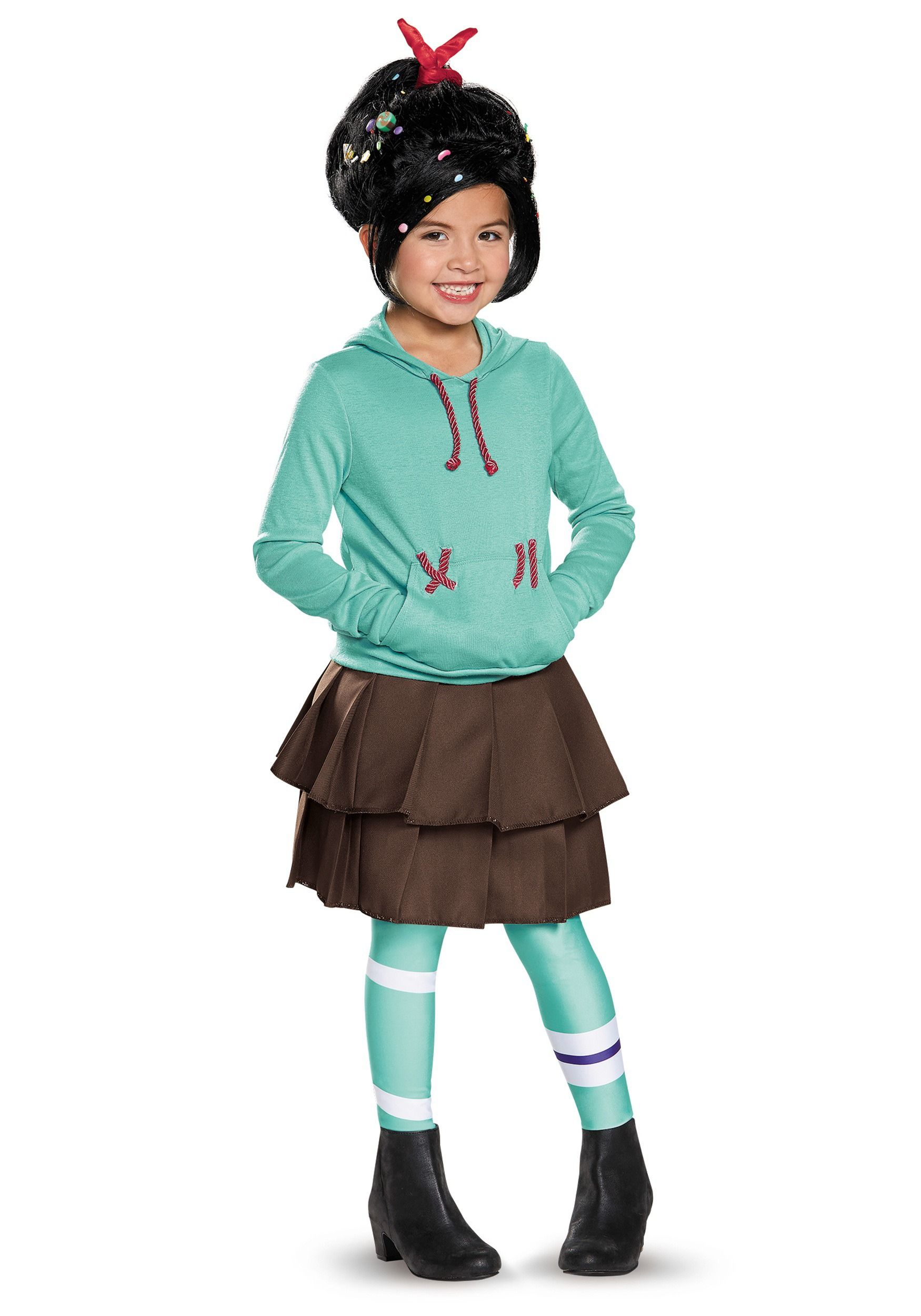 Child Deluxe Vanellope Von Schweetz Costume | Costumes, Toddler ...