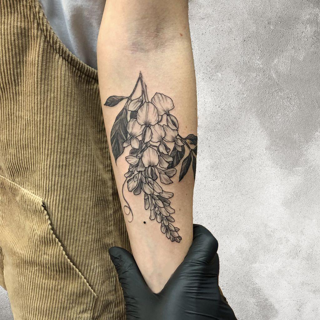 Wisteria Flower Tattoo