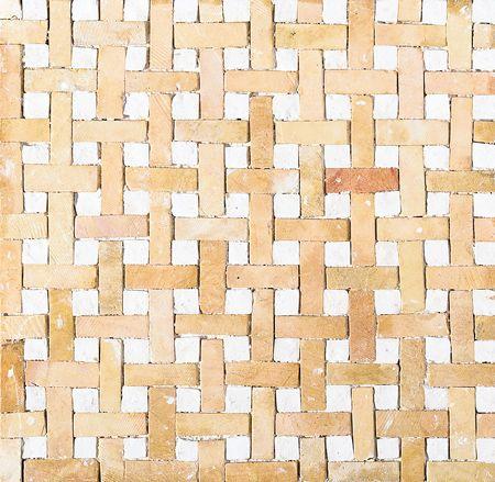 Yellow White Honed Basket Weave Limestone Mosaics 8x8 Natural Stone Tile Mosaic Decorative Tile