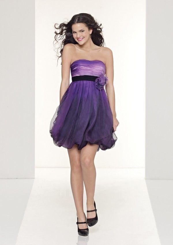 9330ab65411c Abito corto elegante viola sfumato Vestito Viola