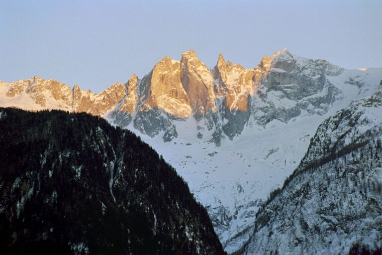 Soglio, Graubünden  sunrise
