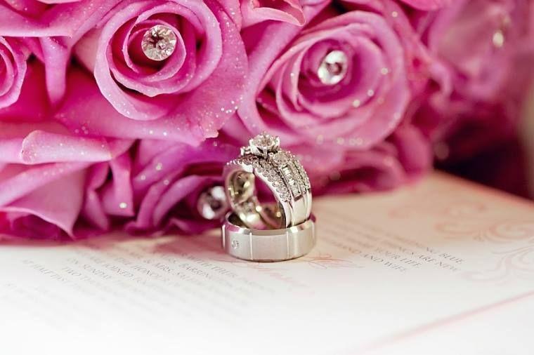 wedding bouquet, bouquet, wedding, pink and silver wedding, wedding ring, platinum ring, pink roses, blinged out bouquet, bling bouquet