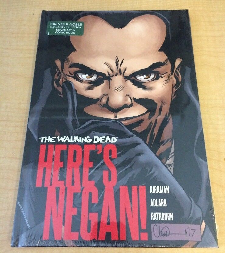 here s negan hc the walking dead 100 barnes noble exclusive