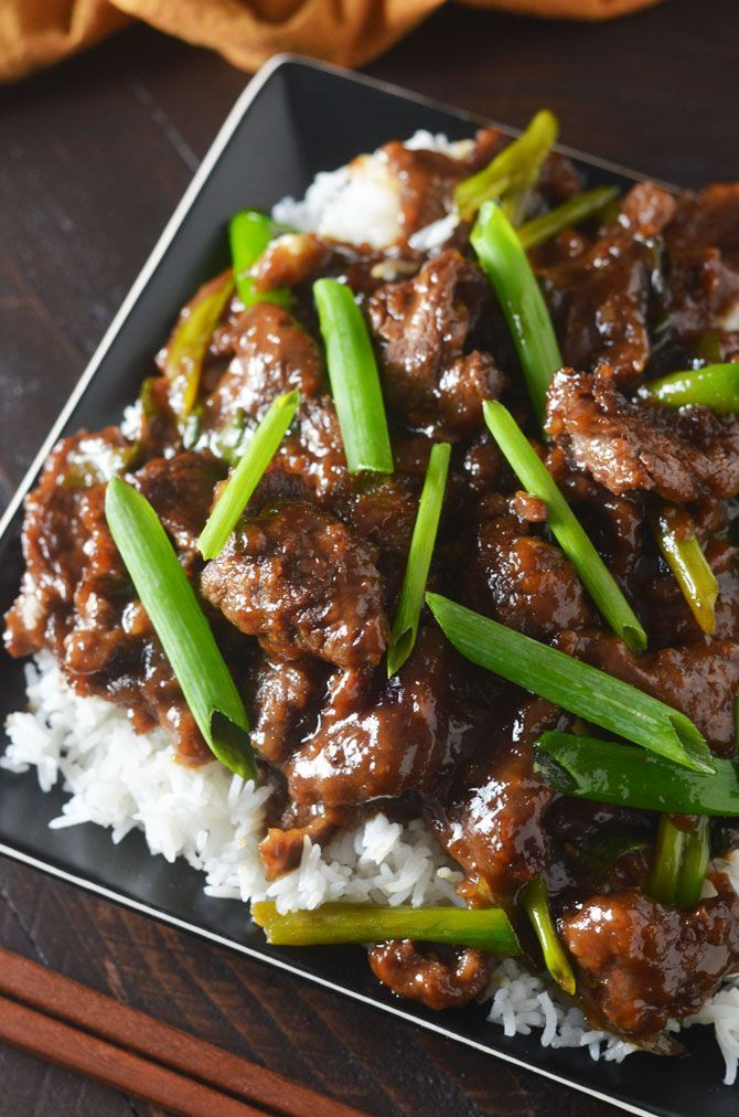Mongolian Beef! Make the takeout dish at home with this easy, lighter, and tasty recipe! | http://hostthetoast.com