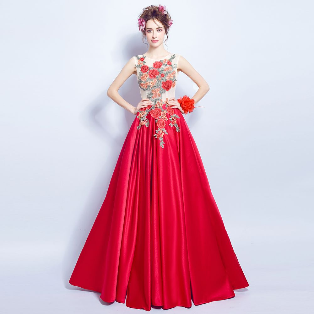 Red ball gown wedding dress  Click to Buy ucuc Angel Wedding Dress Marriage Bride Bridal Gown