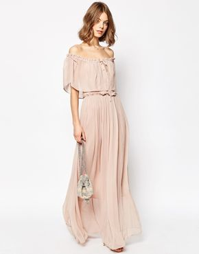 fbf354504e3 ASOS Ruffle and Tiered Off Shoulder Maxi Dress | Full Fathom Five ...