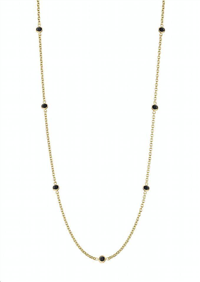 10k Black Diamond Necklace