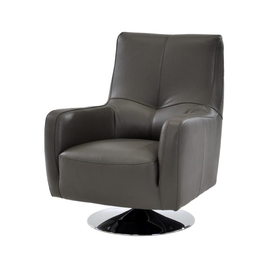 Exceptionnel Verona Gray Leather Swivel Chair