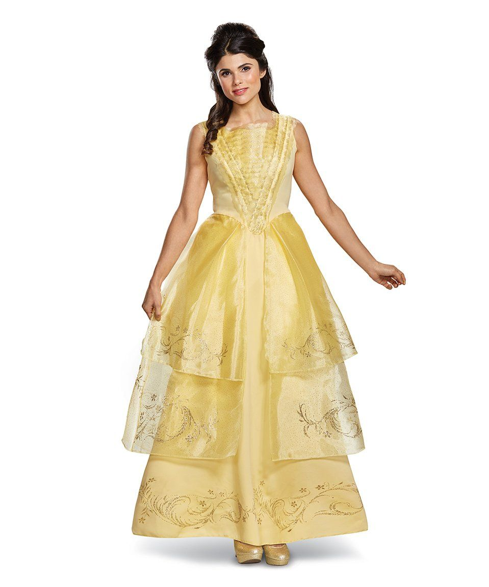 Take a look at this gold belle of the ball deluxe princess costume