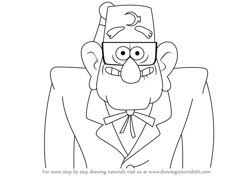 Stan Pines Also Known As Grunkle Stan Is The Titragonist For The Movie Gravity Falls He Runs The Mystery Doodle Art Designs Mini Drawings Disney Art Drawings