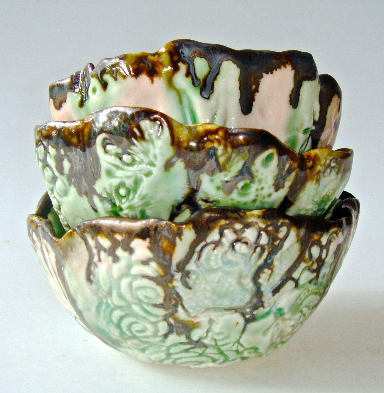 Decorative Ceramic Bowl Decorative Bowl Ceramic Bowl Organic Shape Ice Creamclayshapes