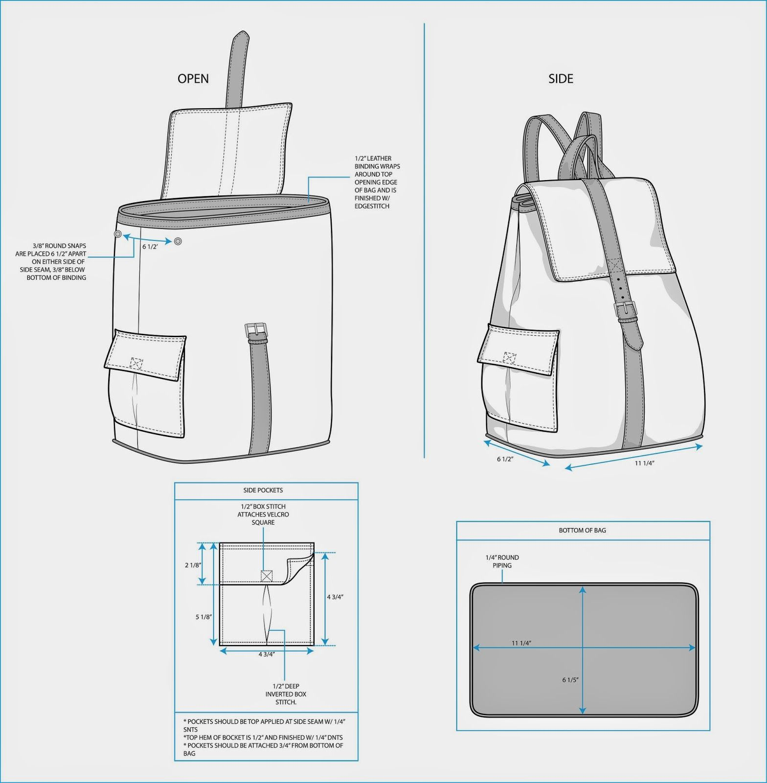 Sample Fashion Project: Backpack Tech Pack | Hacer mochilas de ...
