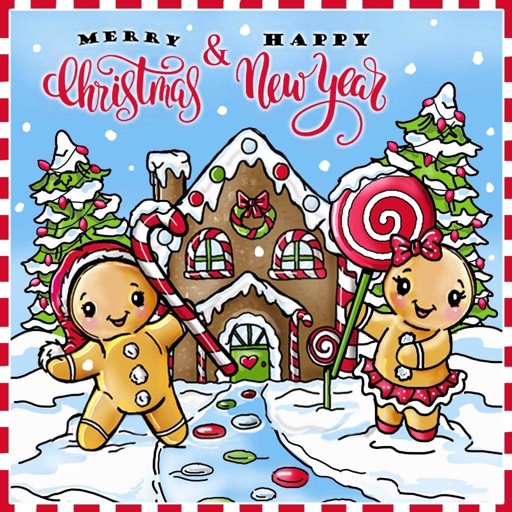 Merry christmas and a happy 2018!   Дед мороз, Рисовать