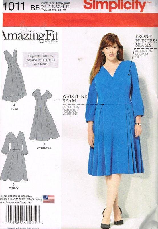 Simplicity 1011 Sewing Patternamazing Fit Womens Dresses Size