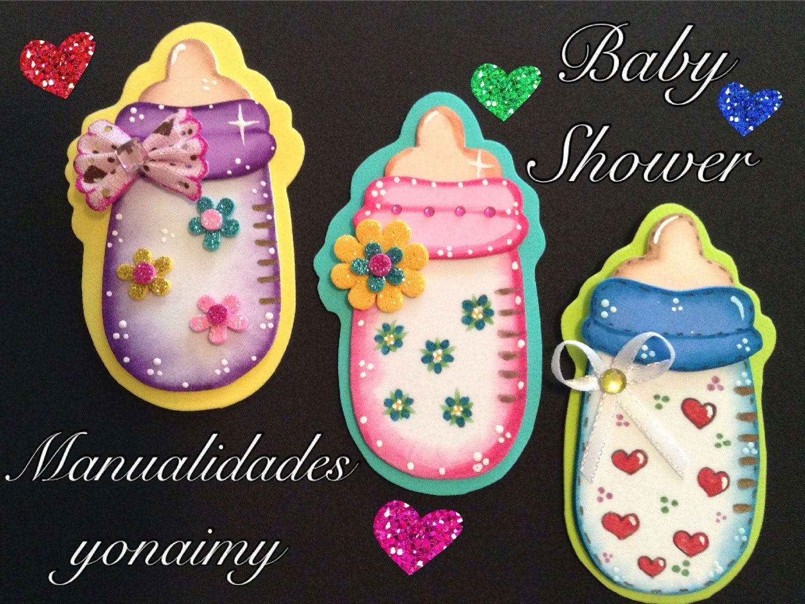 Biberon O Mamila Para Baby Shower De Foamy O Goma Eva Biberones Para Baby Shower Angelitos En Goma Eva Moldes Para Baby Shower