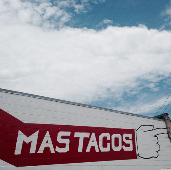 The Mas Tacos mural is located at 732 Mcferrin Avenue in