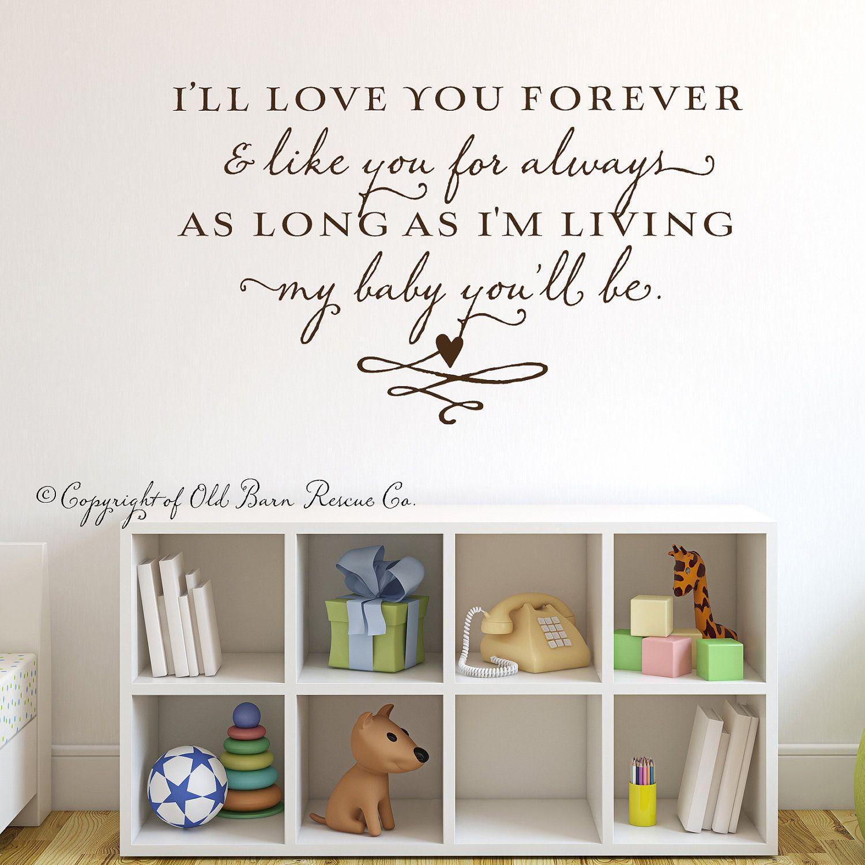 Iull love you forevervinyl wall lettering by oldbarnrescuecompany