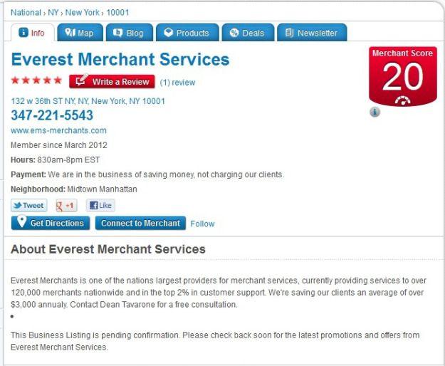 Merchant Circle Review Merchant Services Merchants Everest