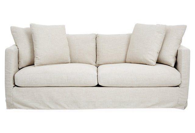 dolly slipcover sofa oat crypton - Crypton Sofa