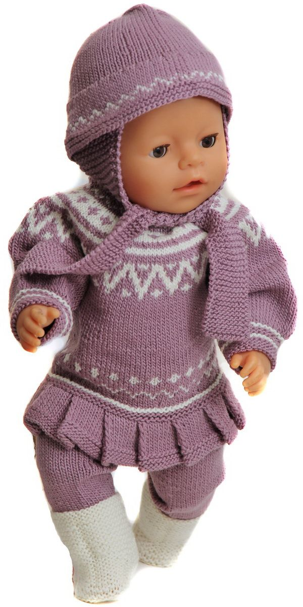 18 inch doll knitting patterns - Knit a great tunica in lilac and ...