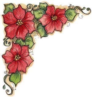 Esquina para imprimir de flores imagenes y dibujos para - Dibujos navidenos para pintar en tela ...