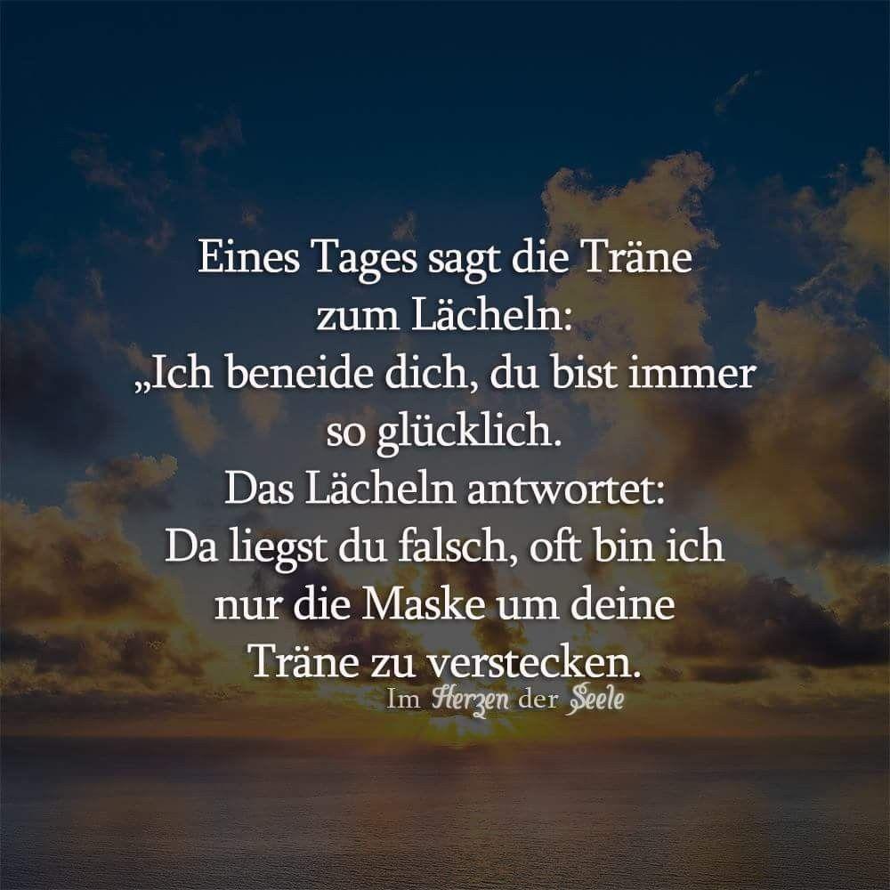 Eines Tages sagt die #TRÄNE zum #LÄCHELN | Lächeln spruch