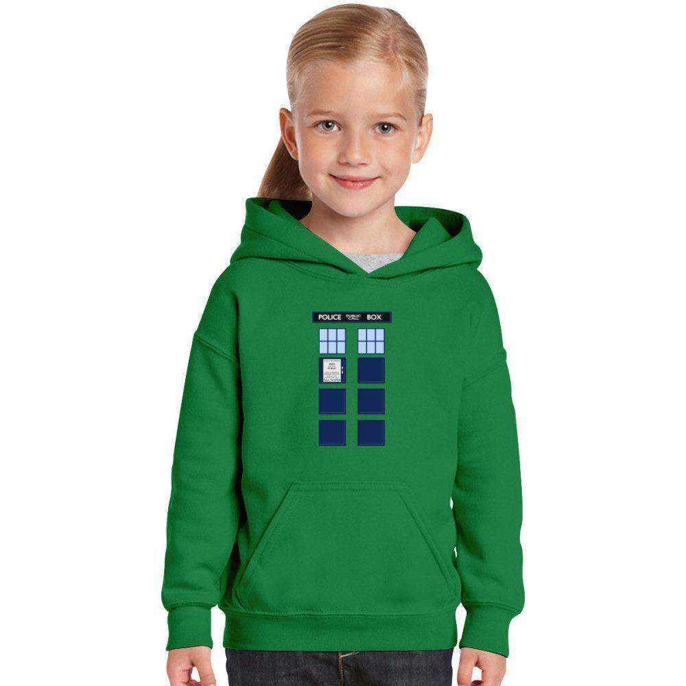 Dr Who Tardis Kids Hoodie