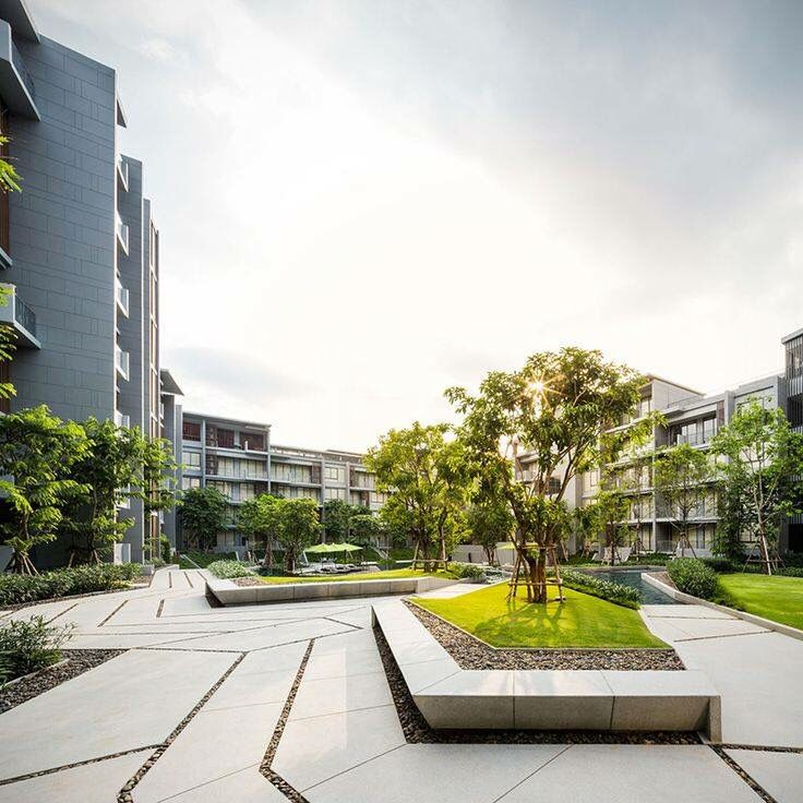 The sansiri residential block in khao yai pak chong for Residential landscape architecture