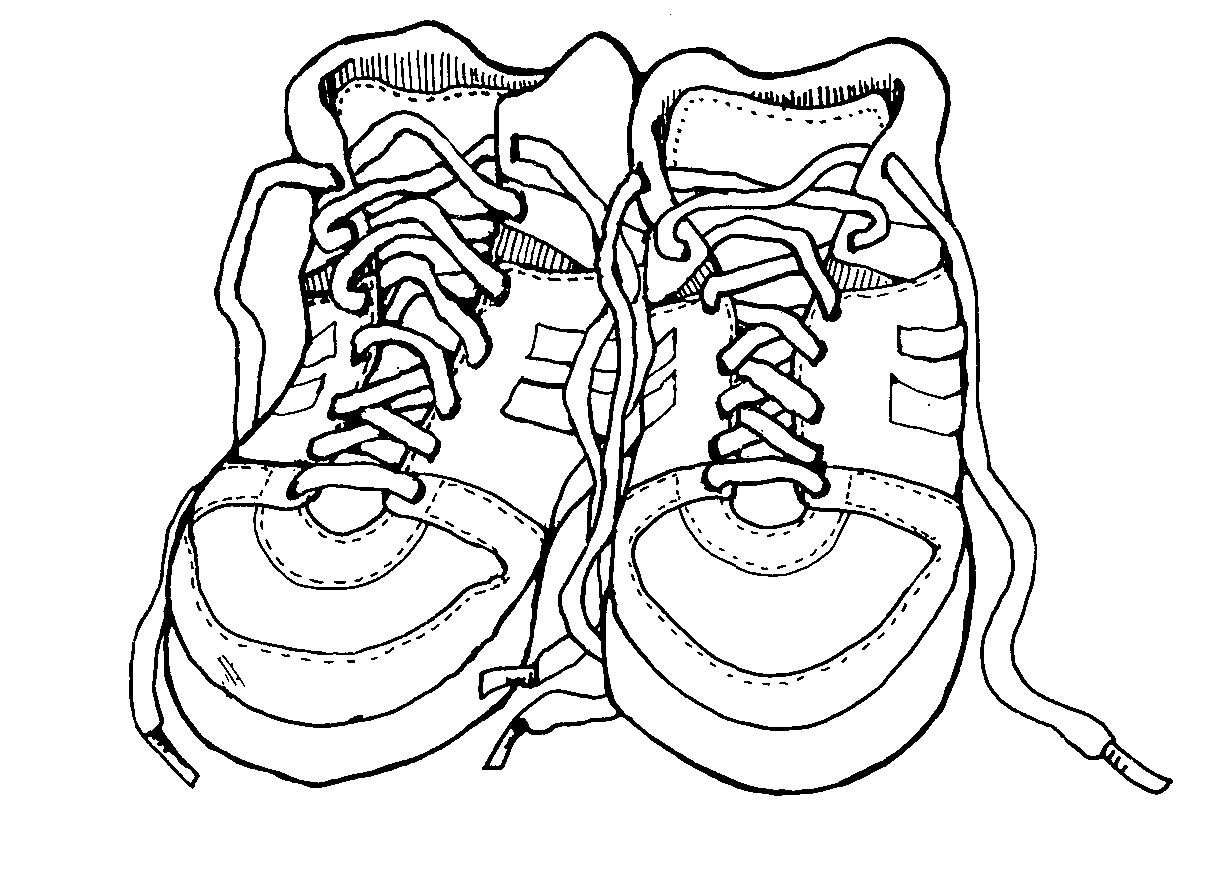 30+ Running Shoe Clipart Black And White