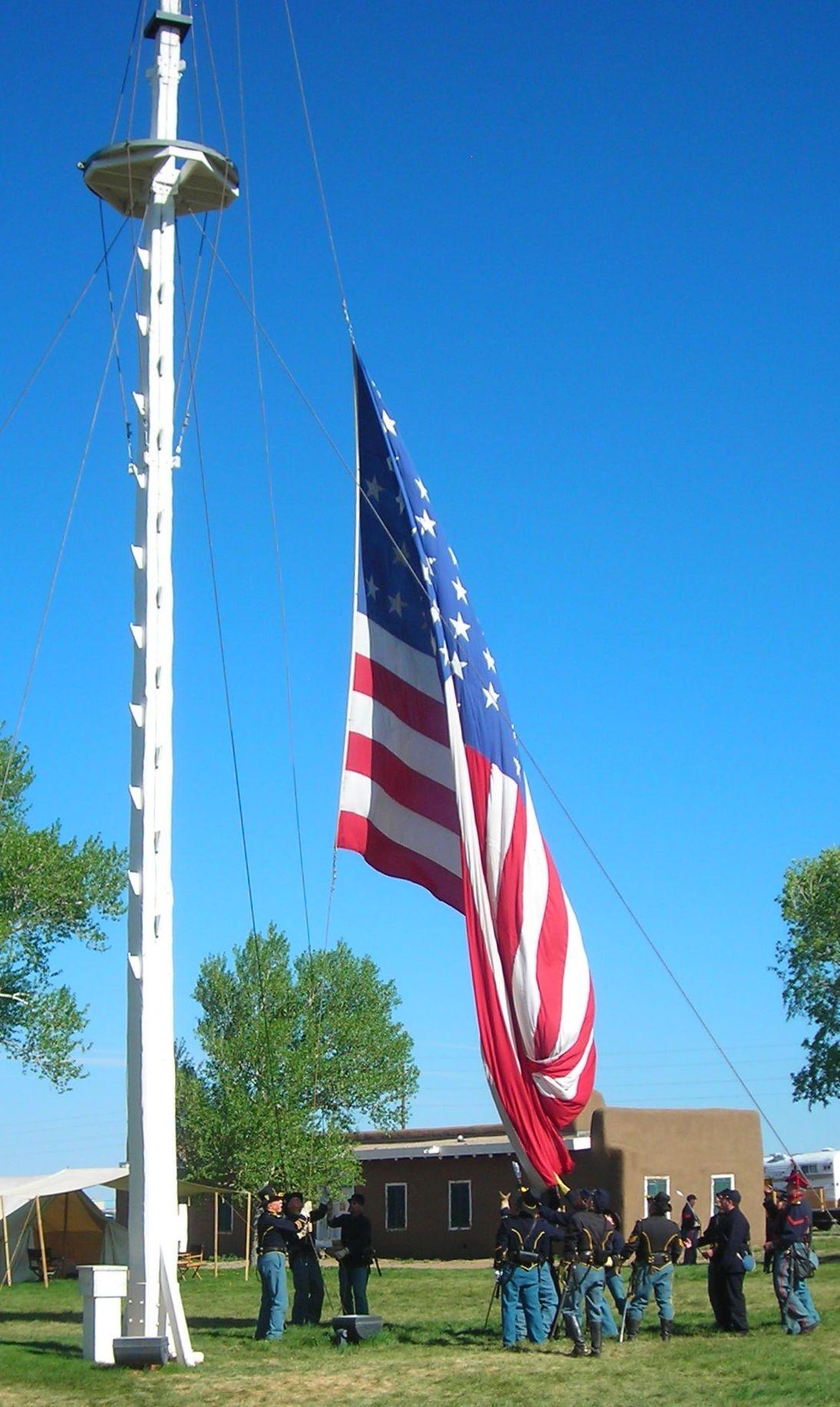 Garrison Flag Raising By Fort Garland Memorial Regiment Old Fort Garland Fort