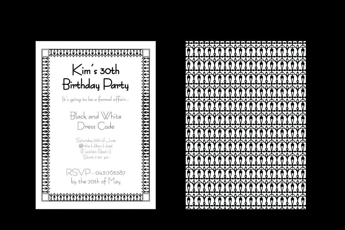 Photo of Monochrome Lace 5x7in Invitation , #Ad, #monochrome#lacy#border#Invitation #affi…