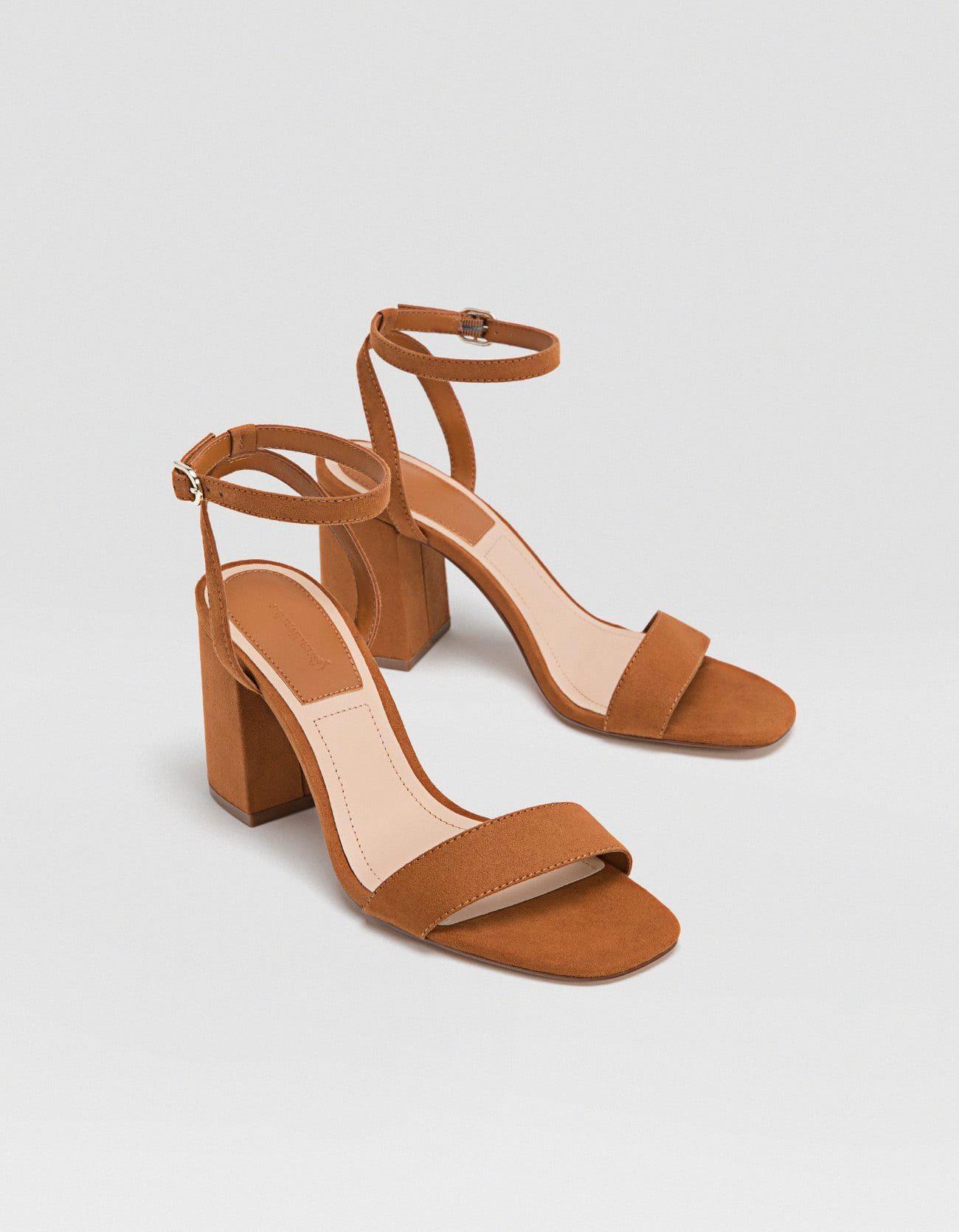 ea9aac7d65c Sandalias tacón ancho marrón - Zapatos de tacón