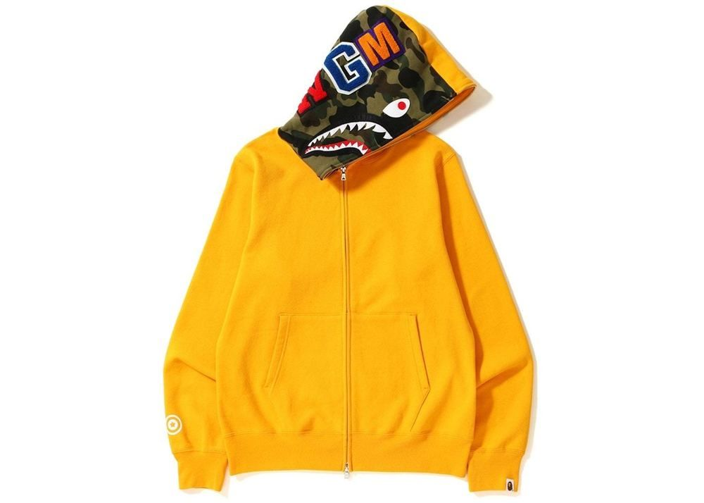 fc3c0c9aadd7 Authentic BAPE A Bathing Ape Mens 1st Camo Shark Full-Zip Hoodie - Yellow  FW18  fashion  clothing  shoes  accessories  mensclothing  activewear (ebay  link)