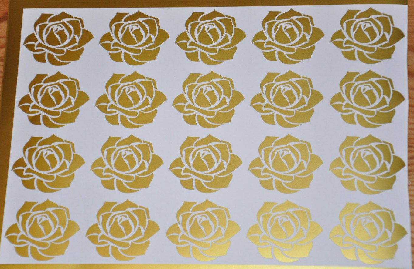 20 Rose stickers, Flower Rose wall decal, Baby Rose room decor, gift ...