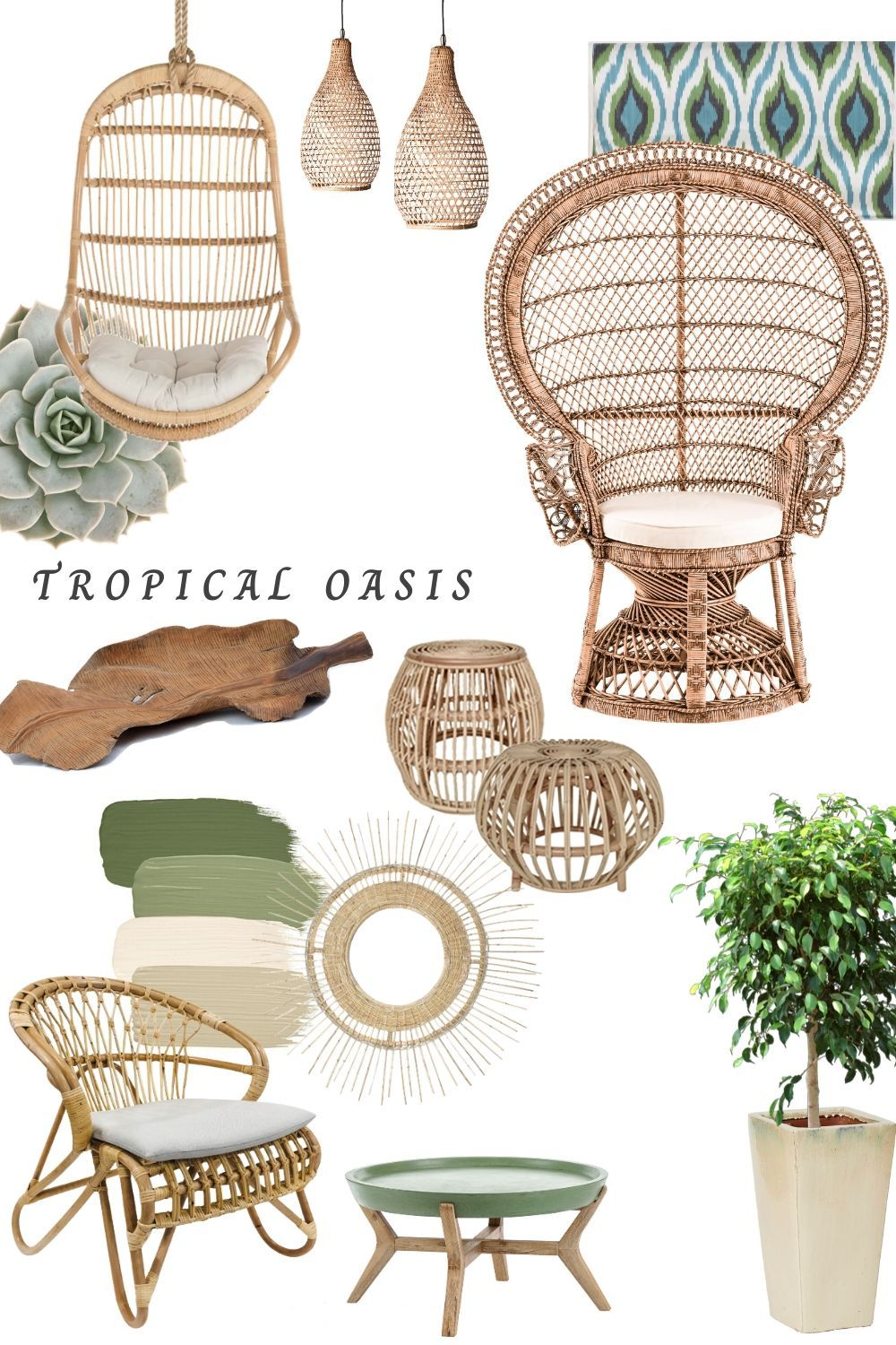 Tropical Oasis Rattan Furniture Decor Tropical Home Decor African Home Decor