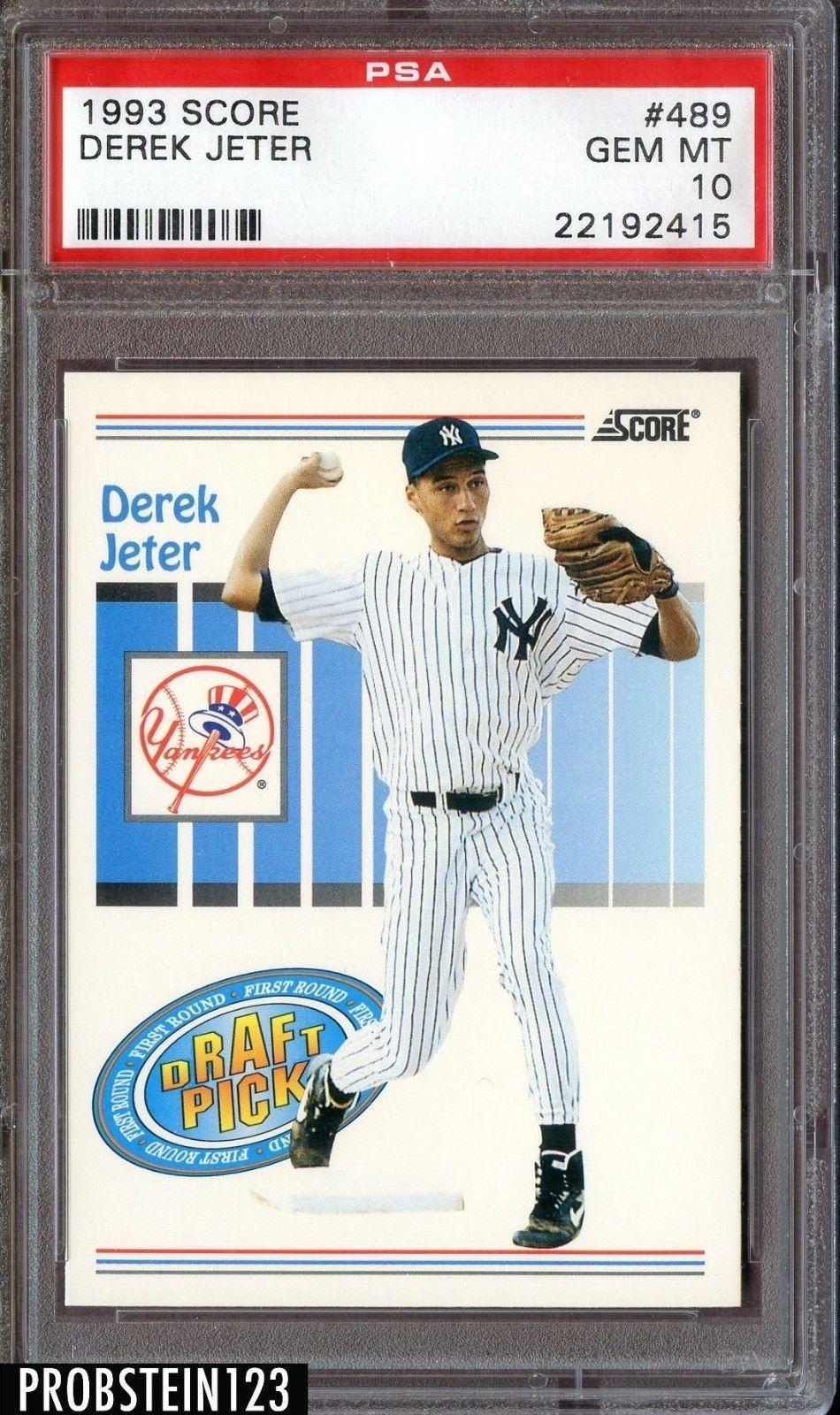 1993 score derek jeter derek jeter rookie card new
