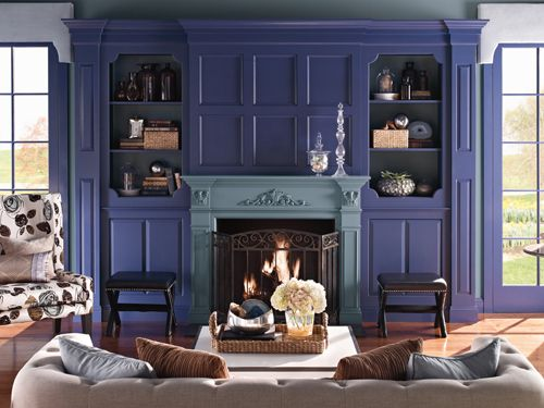 A bold living room color