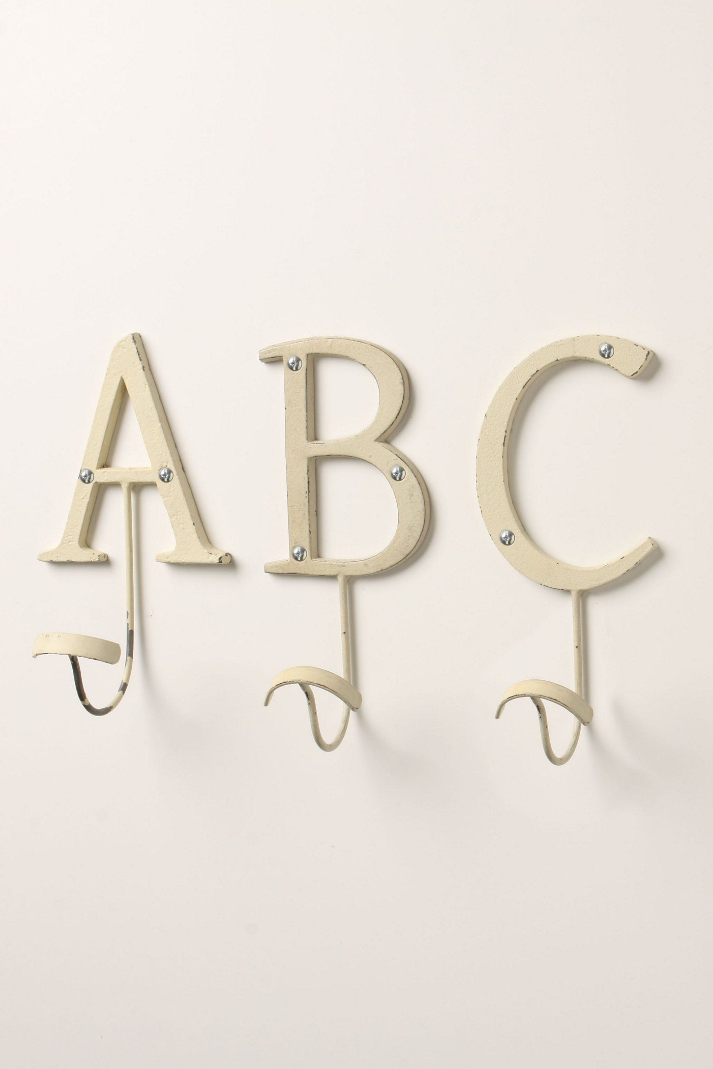 Anthropologie Letter Hooks Liz Or Elizabeth