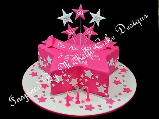 Awe Inspiring Birthday Cake Star Inspired Michelle Designs With Images Star Funny Birthday Cards Online Inifodamsfinfo