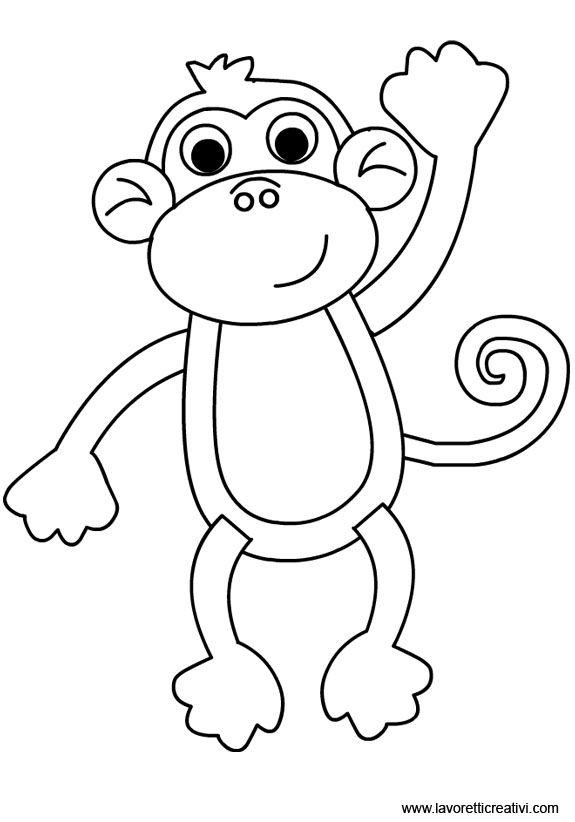 Disegni Da Colorare Animali Scimmia.Pin Su Animali
