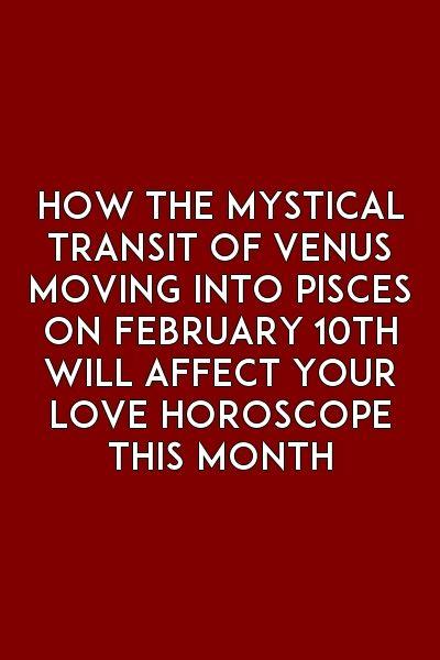 transit of venus astrology pisces