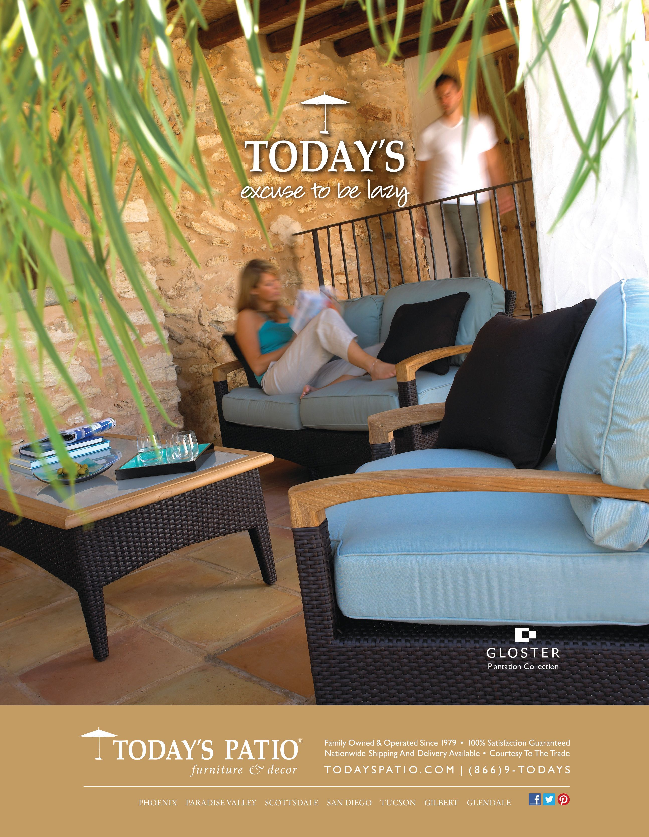 Gloster Plantation Collection   Todayu0027s Patio Magazine Ad