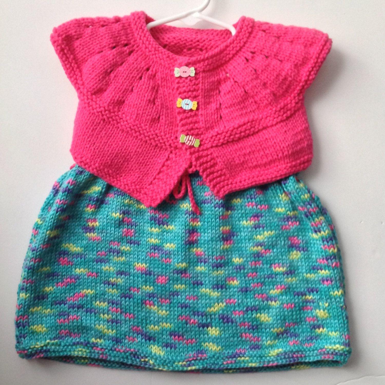 Knit baby dress knitted dress baby girl dress set knit bolero