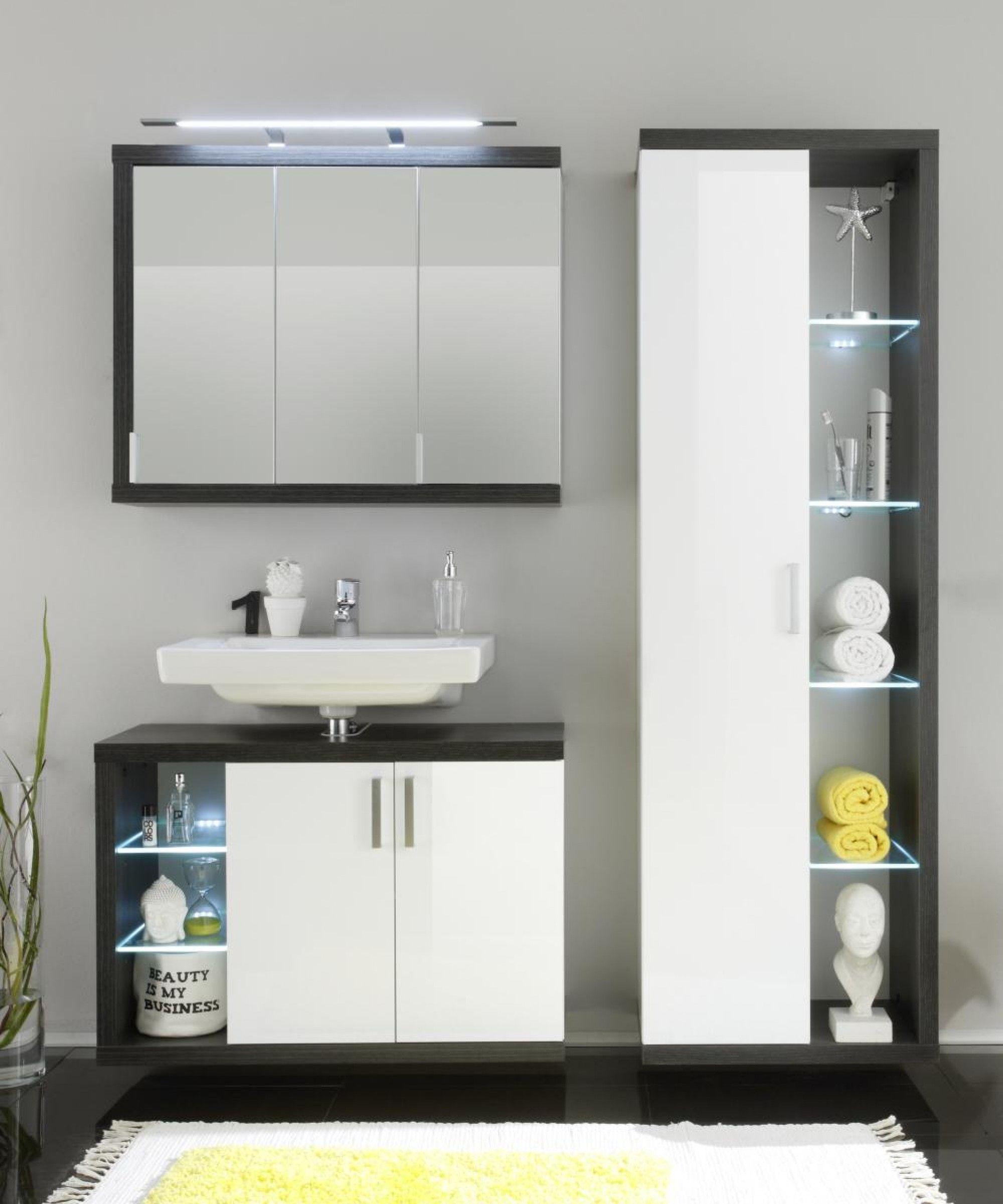 Spiegelschrank Sunrise Amp 9654 Online Bei Poco Kaufen Badezimmer Spiegelschrank Badezimmer Hochschrank
