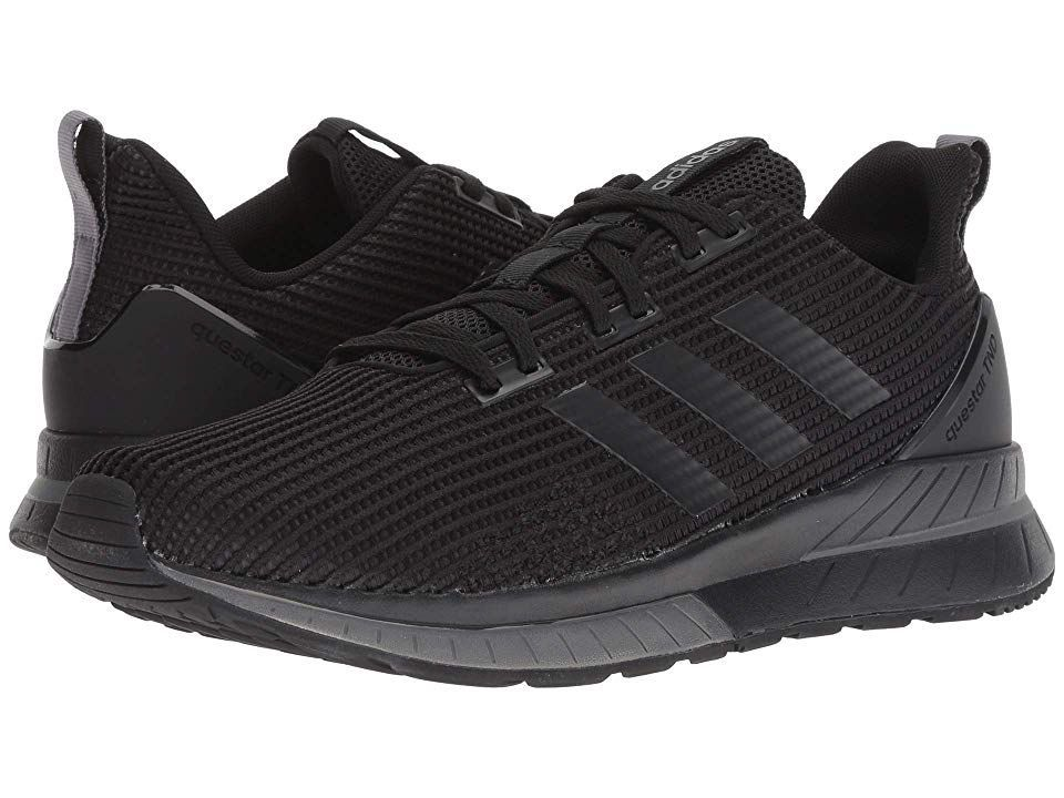 Running Questar TND (Black/Black/Grey Five) Men's Running Shoes. Increase your speed while maintaining comfort with the Questar TND running shoes by adidas. Predecessor: None. Support Type: Neutral. Cushioning: Lightweight  flexible response. Surface: Road. Differential: 12mm. Breathable mesh and ...