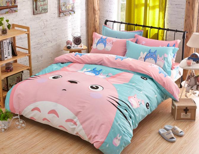 Cute Totoro Bed Sheet Set Se6971 Bed Sheet Sets Bed Sheets Duvet Cover Sets