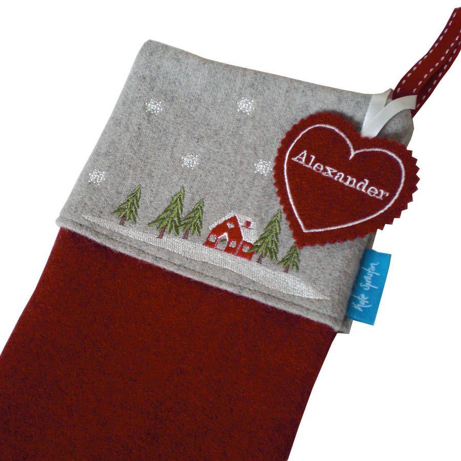 Uncategorized Origin Of Christmas Stocking embroidered winter lodge christmas stocking stockings and stocking