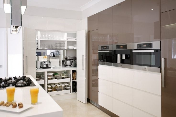 Modern contemporary butlers pantry kitchen pinterest for Modern walk in pantry